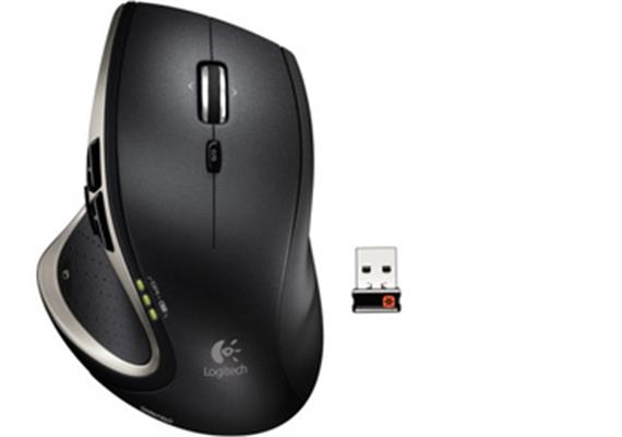 Logitech Performance Mouse MX, USB 2.4GHz Receiver - Blau