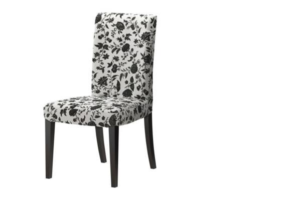 Stuhl zu Esstisch - Muster Schwarz-Weiss