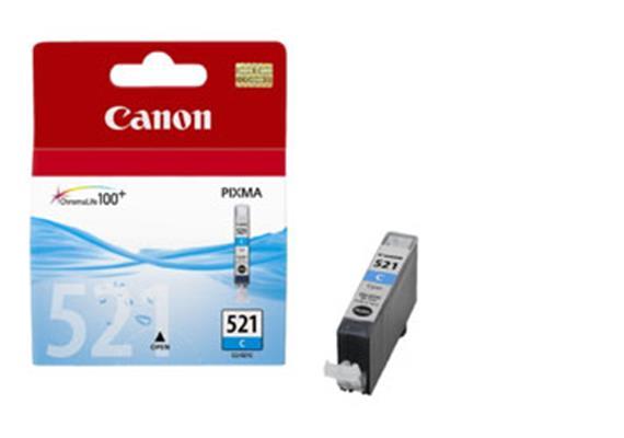 CANON Tintenpatrone PGI-521C blau, 9ml, zu PiXMA iP3600/4600/ MP980/630/620/540