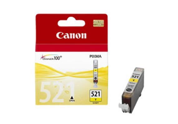 CANON Tintenpatrone PGI-521Y gelb, 9ml, zu PiXMA iP3600/4600/ MP980/630/620/540