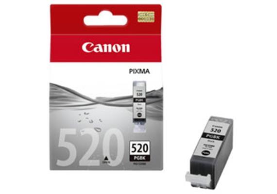CANON Tintenpatrone PGI-520BK schwarz, 19ml, zu PiXMA iP3600/4600/ MP980/630/620/540